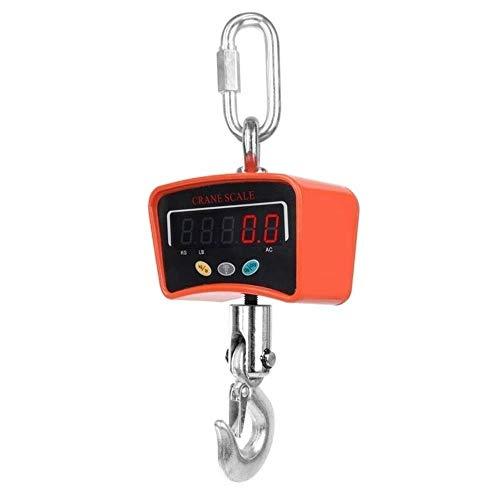 MAOX 500 kg / 0,1 kg Alta precisión Escala de la grúa electrónica Digital, Mini Escala de Gancho portátil LCD retroiluminada balanza Colgante de la grúa Industrial