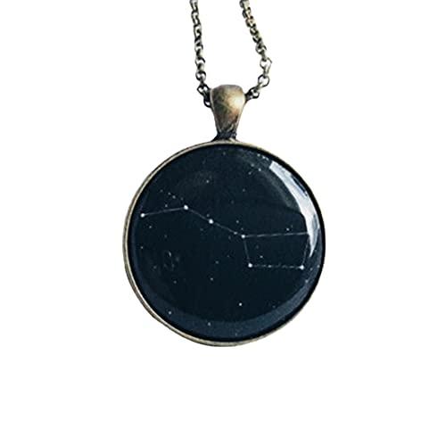 Collar de constelación grande Ursa Major Constellation Collar Gran Oso Estrella Regalo Para Ella Joyería Negra