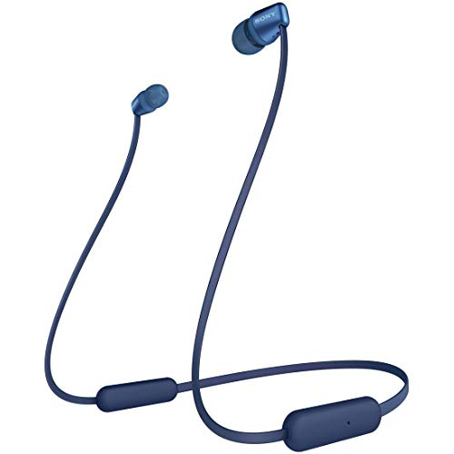 ソニー ワイヤレスイヤホン WI-C310 : Bluetooth対応/最大15時間連続再生/マイク付き フラットケーブル採用 2019年モデル ブルー WI-C310 LC