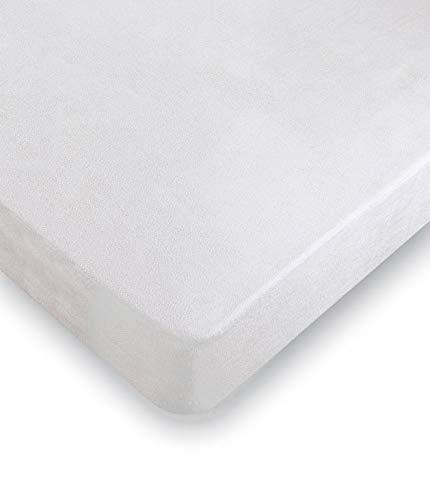 Protector de Colchón Coralina. Protector Impermeable y Transpirable, Tacto Extra Suave y Fresco (135x190/200)