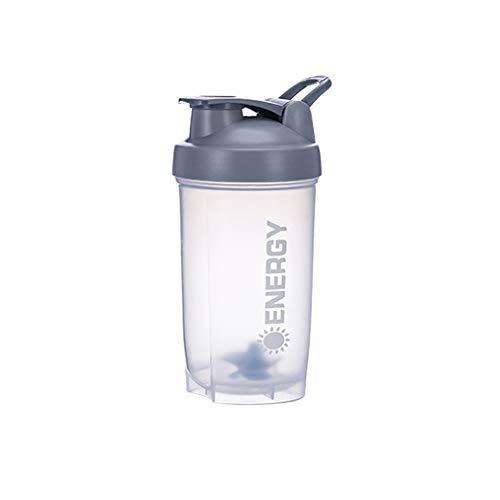 Proteine Shaker Cup Integratori per lo Sport Shaker con Miscelatore Palla Fitness Milkshake Tazza per Acqua da Allenamento Portatile 500 ml