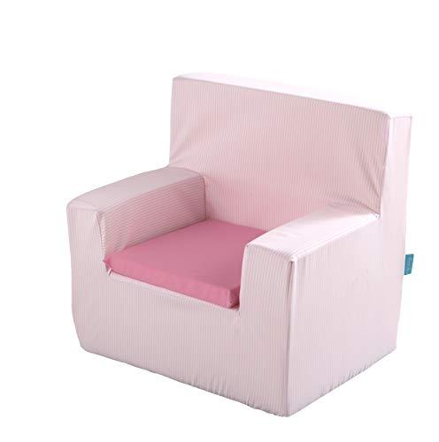 POOCH sillón Infantil líneas Rosa