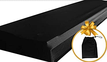 Piano Keyboard Dust Cover for 88 Keys - Piano Chord EBook Included - Made of Nylon/Spandex - Comes Complete with Built-In Bag, Elastic Cord and - Locking Clasp - Keep It Free From Dust and Dirt!