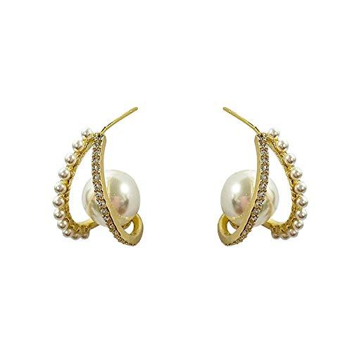 Aretes Pendientes De Perlas De Oro De Diseño Único Para Mujer 2021 Joyería De Moda Coreana Accesorios Góticos Pendientes Inusuales De Lujo Para Chicas De Fiesta