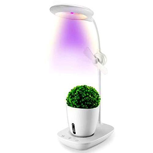Lámparas LED para Plantas, Kit De Cultivo Hidropónico, Kit De Jardinería Interior para Escritorio, Luz De Lectura USB, Tecla Táctil Kit De Jardín,Blanco