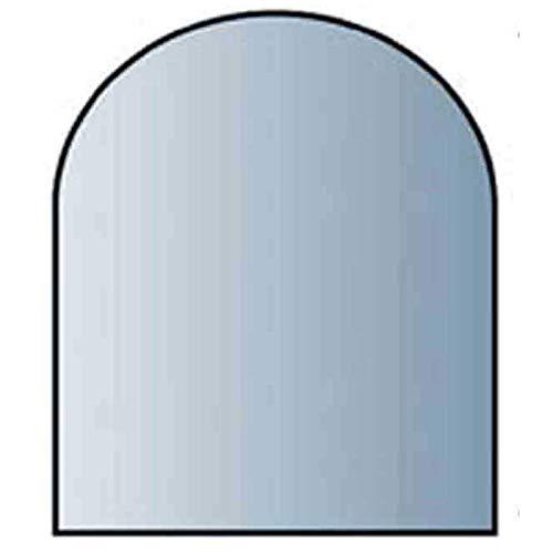 Glasbodenplatte 8 mm Stärke, 120 x 130 cm, Halbrund 21.02.886.2 Glasplatte Funkenschutz Platte Kamin Ofen Kaminöfen Lienbacher Vorlegeplatte Bodenplatte ESG Sicherheitsglas