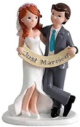 MIRVEN - Figura Pastel Just Married Recién Casados Figuras para el Pastel,...