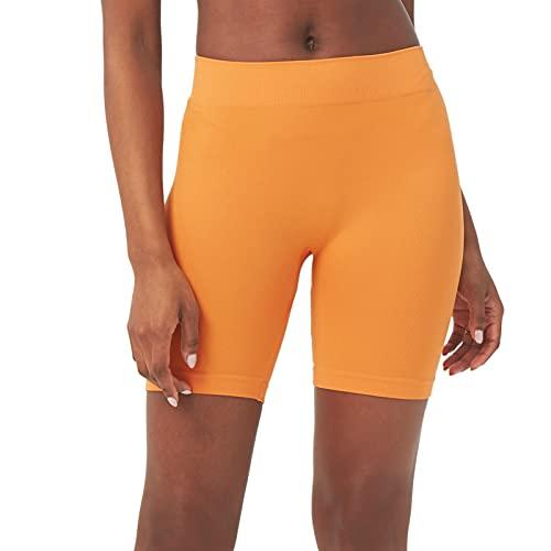 "sissycos Women's Seamless Ribbed Biker Shorts 6"" Inseam Mid Waisted Shorts | Amazon.com"
