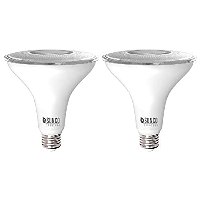 Sunco Lighting 2 Pack PAR38 LED Bulb 13W=100W, 2700K Soft White, 1050 LM, Dimmable Flood Light, Indoor/Outdoor, Accent, Highlight - UL & Energy Star Listed