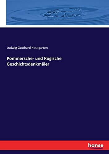 Pommersche- und Rügische Geschichtsdenkmäler