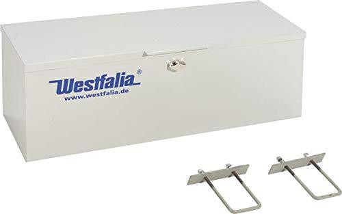 Staubox aus Metall mit Schlossvorrichtung