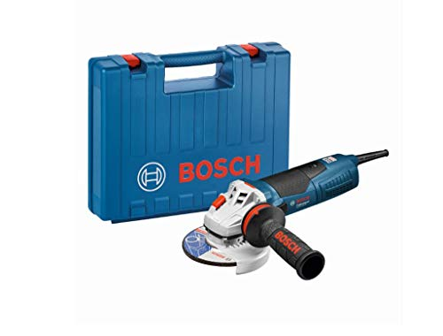 Bosch Professional GWS 17-125 CIE - Amoladora angular (1700 W, Ø disco 125 mm, Antivibration, KickBack-Stop, en maletín)