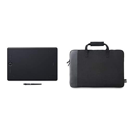 Wacom PTH-860 Intuos Pro L Tableta gráfica con lápiz Digital Pro Pen 2 / Tableta digitalizadora para Pintura y diseño Digital + ACK-400023 - Bolsa para Intuos 4L/5L, Color Negro