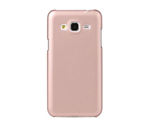 ARTILVST Samsung Galaxy J3 2016 Funda,Ultra fino medio rodeó la estructura de superficie mate Durable PC Protector teléfono funda para Samsung Galaxy J3 2016 Smartphone [oro rosa]