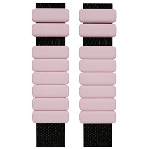 Tobillera de peso ajustable, 2 unidades de muñeca, para fitness, correr, ejercicio aeróbico, gimnasia, entrenamiento de gimnasia, ejercicio (rosa)