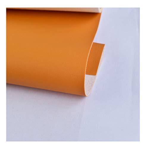 bandezid Tessuto Finta Tessuto in Similpelle Tessuto Ecopelle Morbida Finta Pelle Set di Stoffa DIY Patchwork per Fatti a Mano,Tessuti Tessuto Ecopelle Morbida Finta Pelle-Arancione 15# 1,37x10m