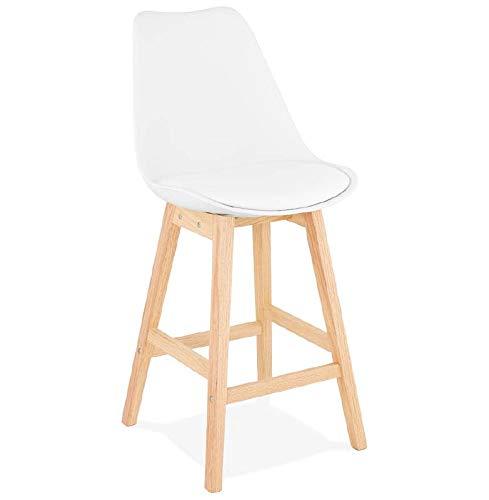 MK Bar Sessel Barhocker skandinavisches Design halbhoher Dylan Mini (weiß)