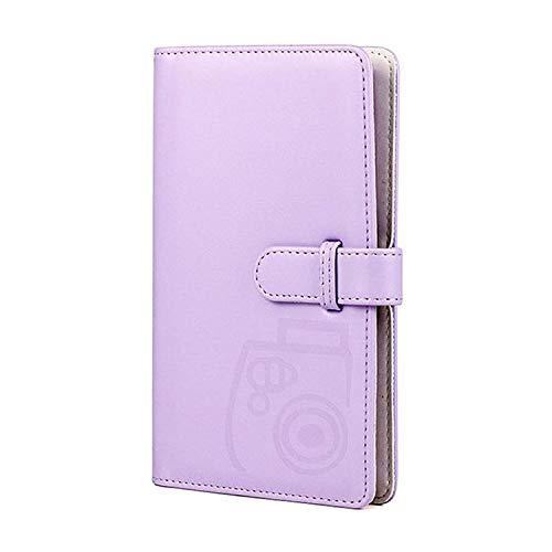 Álbum de fotos tipo cartera de 96 bolsillos con piel sintética compatible con Fujifilm Instax Mini 11   7S   8 8 +   9 25 26 90 70   50s Película de cámara instantánea y Polaroid Snap (Purple)
