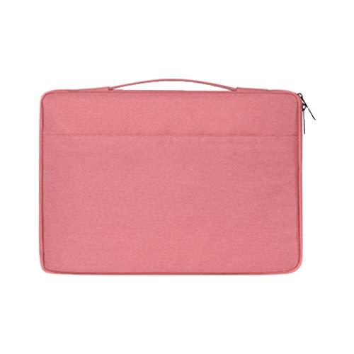 Bolsa De Ordenador Fieltro Ligero Multicapa Impermeable Cremallera Portátil Multifuncional Negocios Cuaderno Pink 13.3 Pulgadas
