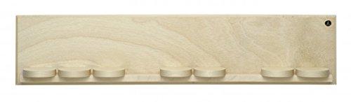 Wendt & Kühn 551/k/natur Wandpräsentation mit sieben Schiebetellern natur 50 x 11 x 5,5 cm