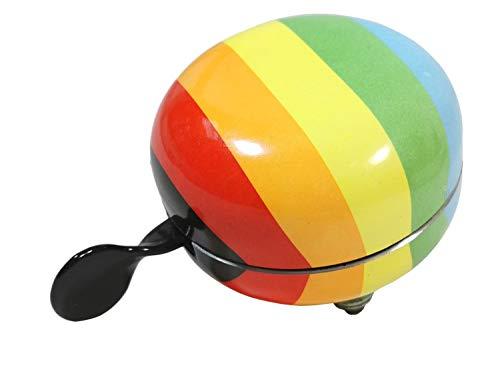 Fahrradklingel XXL Ding Dong 80mm Fahrrad Klingel Glocke Fahrradglocke (Regenbogen)