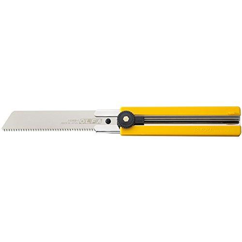 Olfa 316101 Cúter con hoja dentada tipo sierra, cuchilla de 25 mm y bloqueo de rueda, Negro