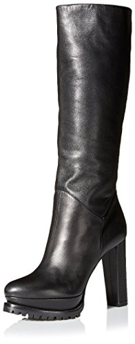 Alexander McQueen Women's Tall Boot, Black, 38.5 M EU/8.5 M US