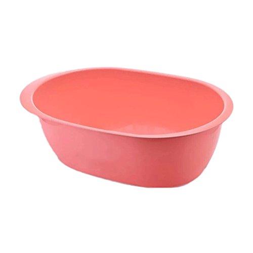 Hunde-Badewanne, Haustier-Hundekatze-Plastikwanne, Haustier-Pool-Wanne (Color : Red, Größe : 66.5CM)