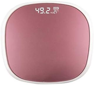 Cuasting Báscula de grasa corporal inteligente digital de peso con aplicación blanca y oro rosa