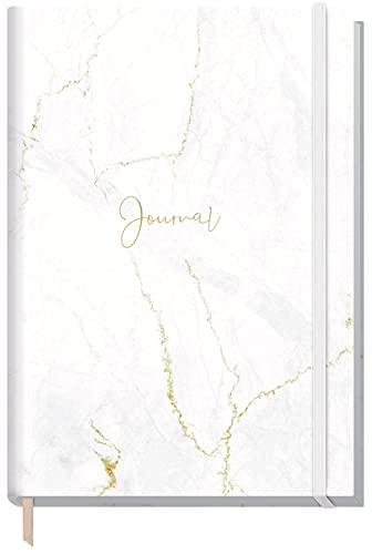 Bullet Journal dotted A5 con banda de goma [mármol blanco] 156 páginas, cuaderno de puntos, diario de Trendstuff by Häfft | sostenible y climáticamente neutro.