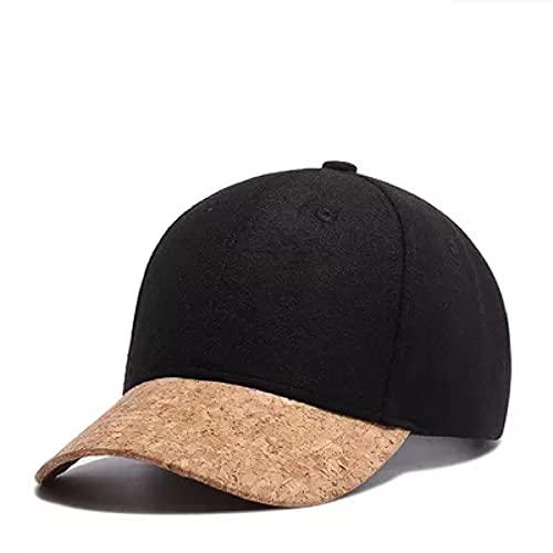 TINGTING Gorra de Beisbol Sombrero de Moda para Mujer, Gorra de béisbol Informal cálida para Hombres, Gorra de Lana Coreana de otoño e Invierno para Hombres Sombrero para el Sol al Aire Libre