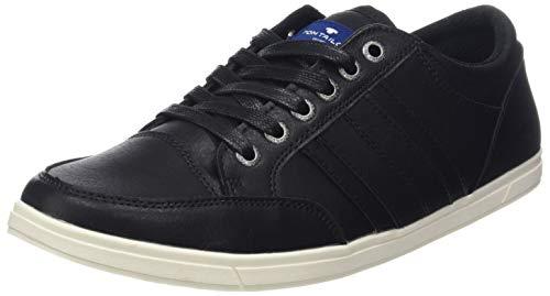 TOM TAILOR Herren 585100330 Sneaker, Schwarz (Black 00001), 44 EU
