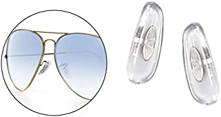 HiCycle2 17mm Clip-on Replacement Nose Pads for Ray-Ban Aviator RB3025 3026 Sunglasses Repair Kits Clear,Bonus Sunglasses Bag