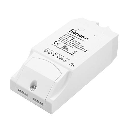 Sonoff Dual Channel WiFi Wireless Smart Switch Kompatibel mit Alexa, Steuerung von zwei Haushaltsgeräten mit APP, Fernbedienung Appliance Controller für DIY Smart Home