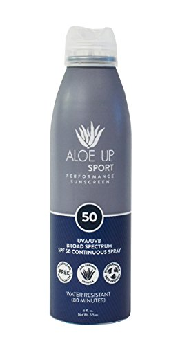 Aloe Up Sun & Skin Care Products Sport SPF 50 Continuous Spray Sunscreen