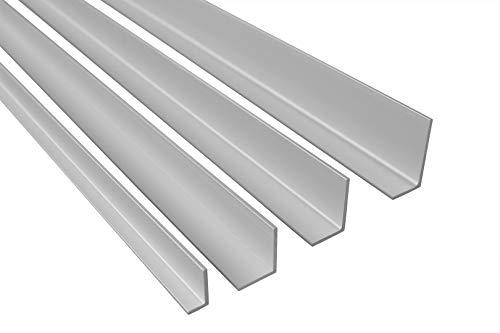 2 Meter | Winkelleiste | ungleich | Alu | eloxiert | Effector | B23 | silber