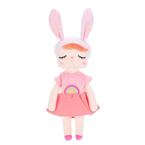 DOUFUZZ Kaninchen Dress Up Angela Puppe Mädchen Plüsch Spielzeug Baby Beruhigen schlafende Puppe für Baby Mädchen Kinder Geburtstagsgeschenk 50cm Typ 1