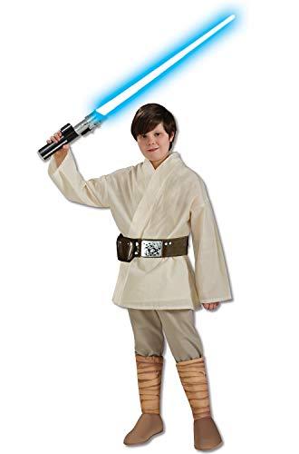 Star Wars Deluxe Luke Skywalker Kostüm Kinderkostüm Science Fiction Gr. S - L, Größe:M