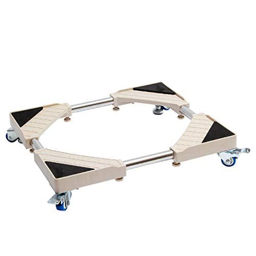 DNSJB Étagère de Base pour Machine à Laver Le Tambour Étagère Haute avec 4 Roues universelles, Support de réfrigérateur Amovible Universel avec Support verrouillable