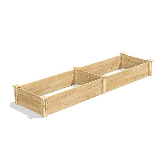 Greenes Fence 2 Ft. X 8 Ft. X 10.5 In Raised Garden Kit, Cedar 2 Made in the USA from naturally rot- and insect-resistant cedar. The wood is 100% chemical free Boards slide into the corner posts without tools forming a secure garden frame. To install the decorative tops simply use a screw driver. Stacking 2 of these makes your garden 21 inches tall (each kit sold seperately).