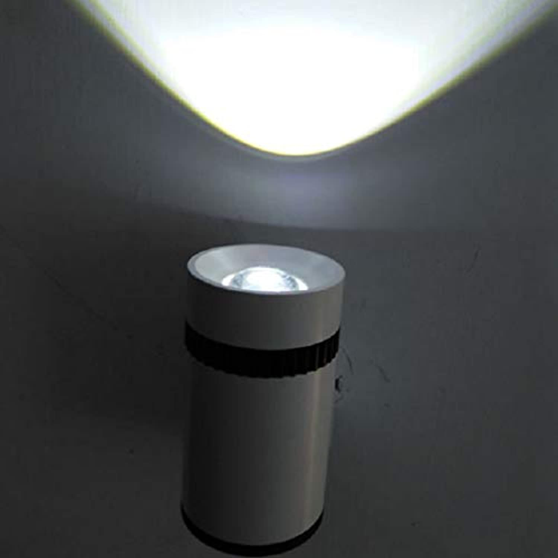 Cvthfyky Led Runde Wandleuchte Doppelkopf Aluminium Auf und Ab Wandleuchte für Schlafzimmer Nacht Hotel Korridor Gang (Farbe   Weiß light-Single head)