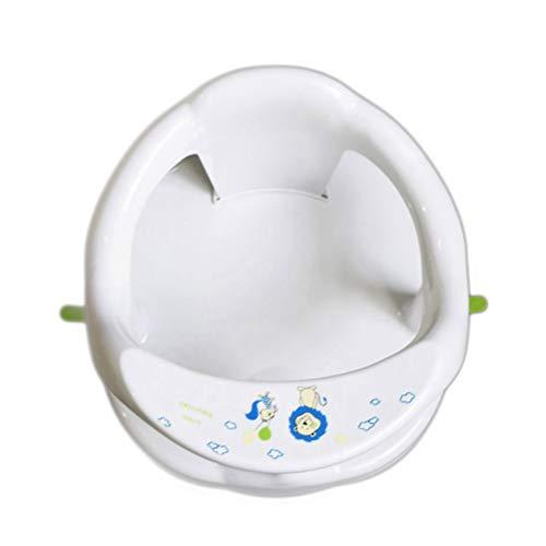 spier Asiento de baño para bebé, asiento para bañera de bebé, asiento para sentadillas, soporte con respaldo y ventosas para estabilidad