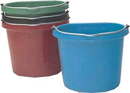 Fortiflex Flat Back Feed Bucket for Dogs//Cats and Small Animals 20-Quart Teal Blue