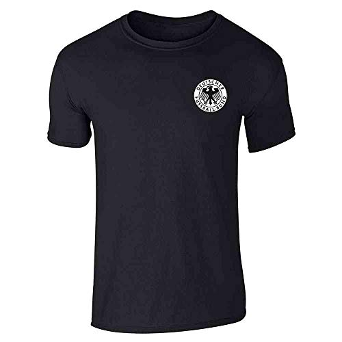 Germany Soccer Futbol Retro Vintage National Team Black L Graphic Tee T-Shirt for Men