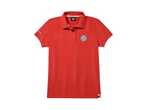 Mercedes-Benz, Poloshirt Damen rot/goldfarben, T-Shirt, Schirt (Small)