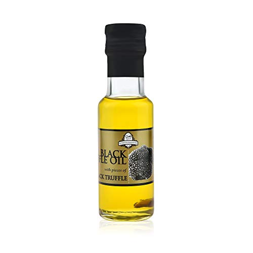 Schwarztrüffel-Öl 100 ml   InterGourmandise   Trüffelölenthält mit echte italienische Trüffelspäne