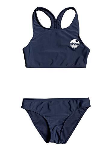 Roxy Mädchen Two Piece Early - Crop-Top-Bikini-Set für Mädchen 8-16, Mood Indigo, 12, ERGX203264