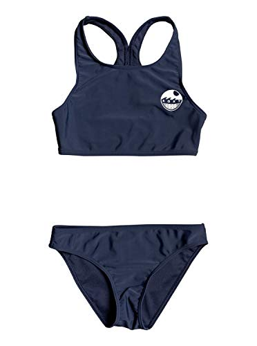 Roxy Early Conjunto De Bikini Crop Top para Chicas 8-16 Conjunto De Bikini Crop Top, Niñas, Mood Indigo, 16