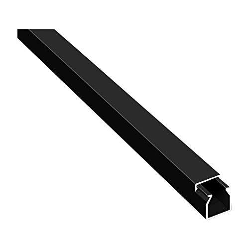 Canaleta para cables (10 m, autoadhesiva, con cinta adhesiva de espuma, lista para el montaje, cubierta de cable (1,2 x 1,2 x 100 cm/10 x 1 m)