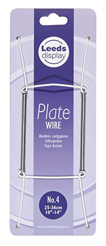 Leeds Display : PW40WL : Wire Plate Hanger No.4 : White : 25-36cm/ 10-14 Inch